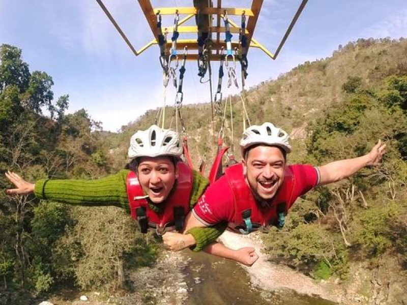Flying Fox adventure sports in Rishikesh with TripDezire
