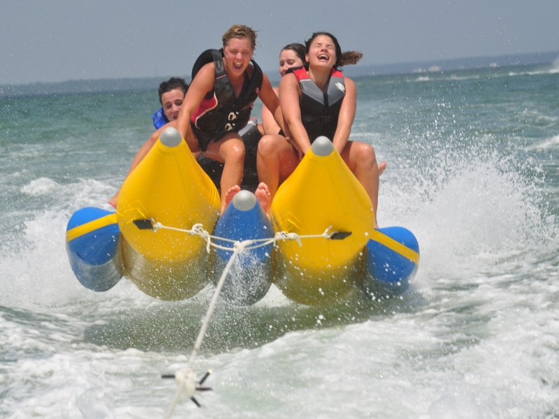 Banana Boat ride - Adventure Sports in Dubai with TripDezire
