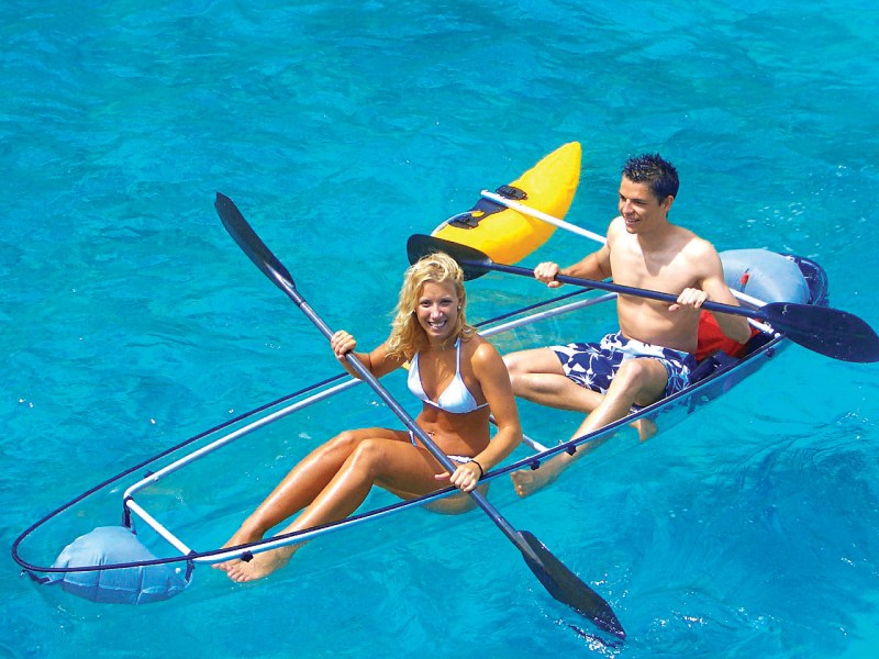 Clear Kayaking - Water Sports Destination in Dubai. To book with TripDezire call us at 999 111 9350